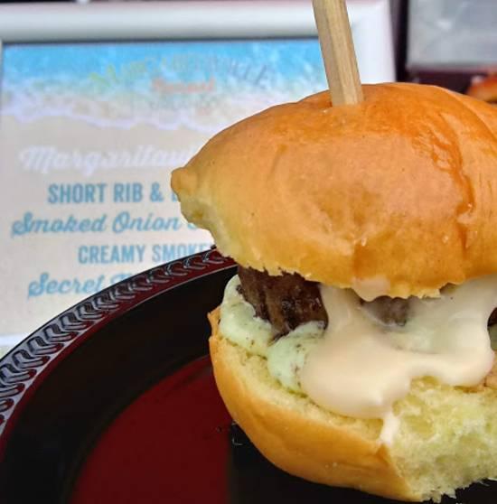 Sunset Walk at Margaritaville Resort Orlando - Salty Rim burger
