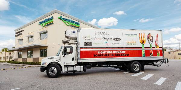 Darden Restaurants has announced it is partnering with Feeding America and Second Harvest Food Bank of Central Florida to increase access to food for those in need in Orlando, via refrigerated trucks.