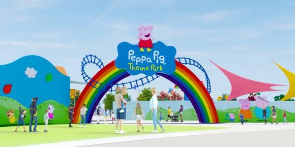 Peppa Pig Theme Park at LEGOLAND Florida - artist rendering