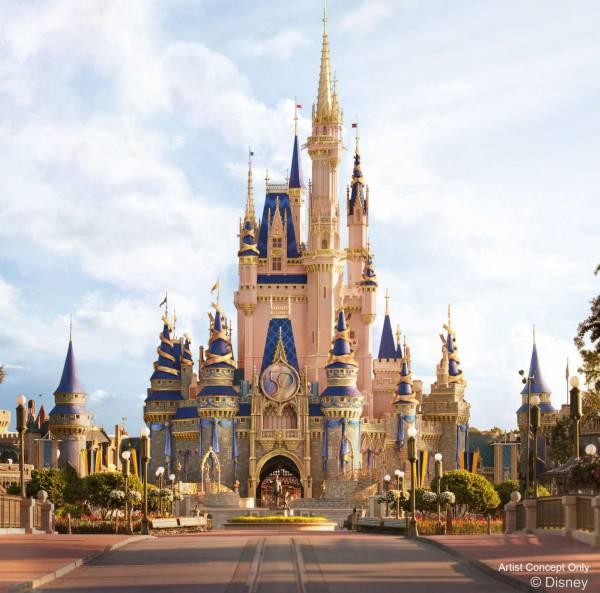 Walt Disney World's 50th Anniversary - Cinderella Castle