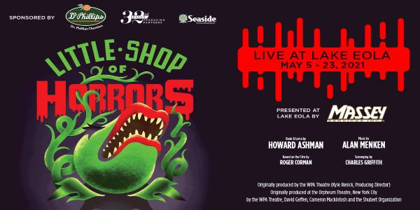Orlando Shakes Presents Little Shop Of Horrors at Lake Eola May 5-23, 2021