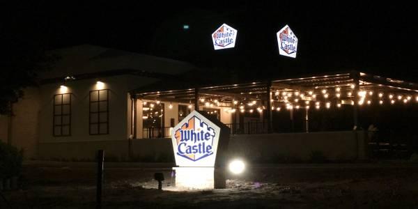 White Castle Orlando - patio at night