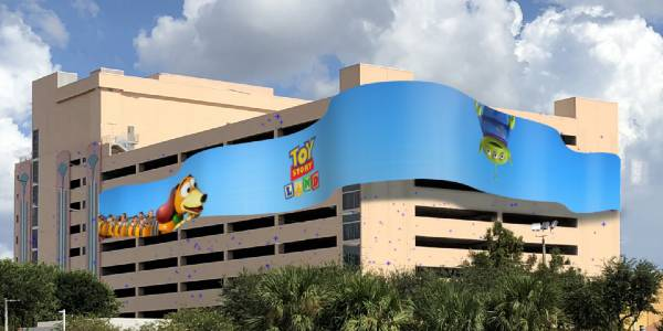 Disney has submitted plans to create and run a massive dynamic art billboard installation that will wrap around the Hollywood Plaza parking garage