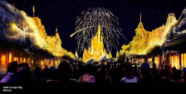 Disney Enchantment nighttime show at Magic Kingdom