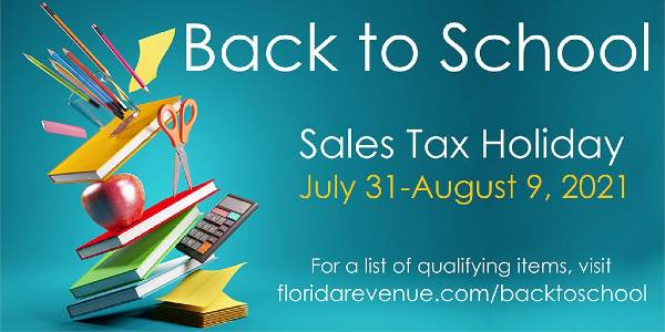 Florida Back to School Sales Tax Holiday 2021