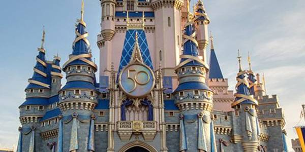 Walt Disney World Adds 50th Anniversary Medallion to Cinderella's Castle
