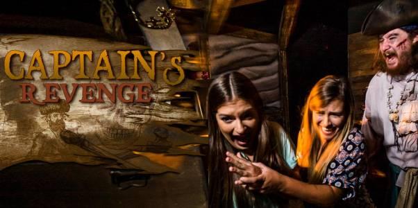 SeaWorld Orlando - Howl'O'Scream - CAPTAIN'S REVENGE Haunted House
