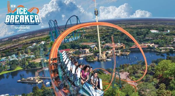 SeaWorld Orlando - Ice Breaker Roller Coaster