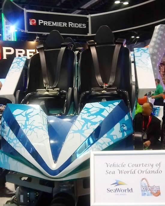 SeaWorld Orlando - Ice Breaker Roller Coaster - IAAPA 2019