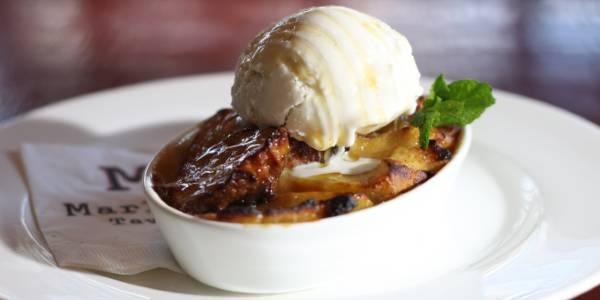 Rib & Whiskey Menu at Marlow's Tavern - Honey Bourbon Bread Pudding