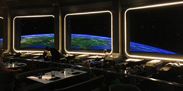 Space 220 opening at Epcot - dining room