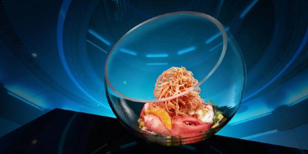 Space 220 restaurant at EPCOT - GALACTIC LOBSTER GLOBE